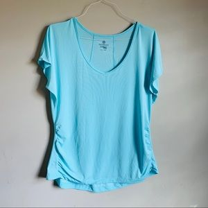 Active Semi Fitted size XL Blue workout Top